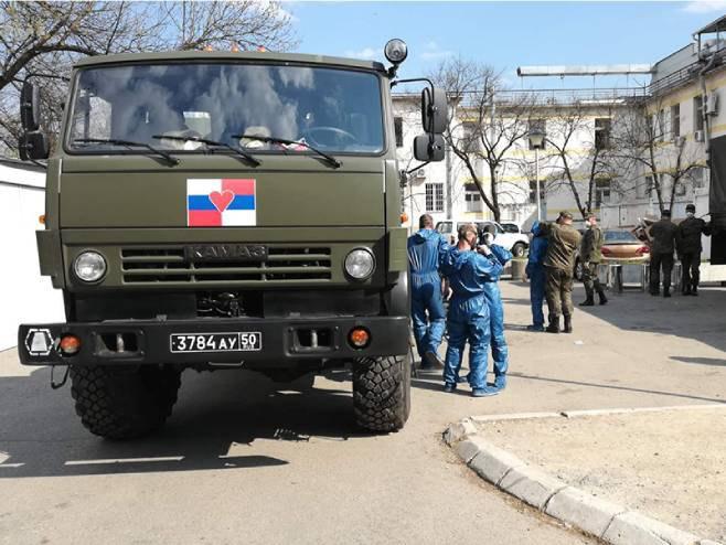 Руски стручњаци дезинфиковали Универзитетски клинички центар у Бањалуци