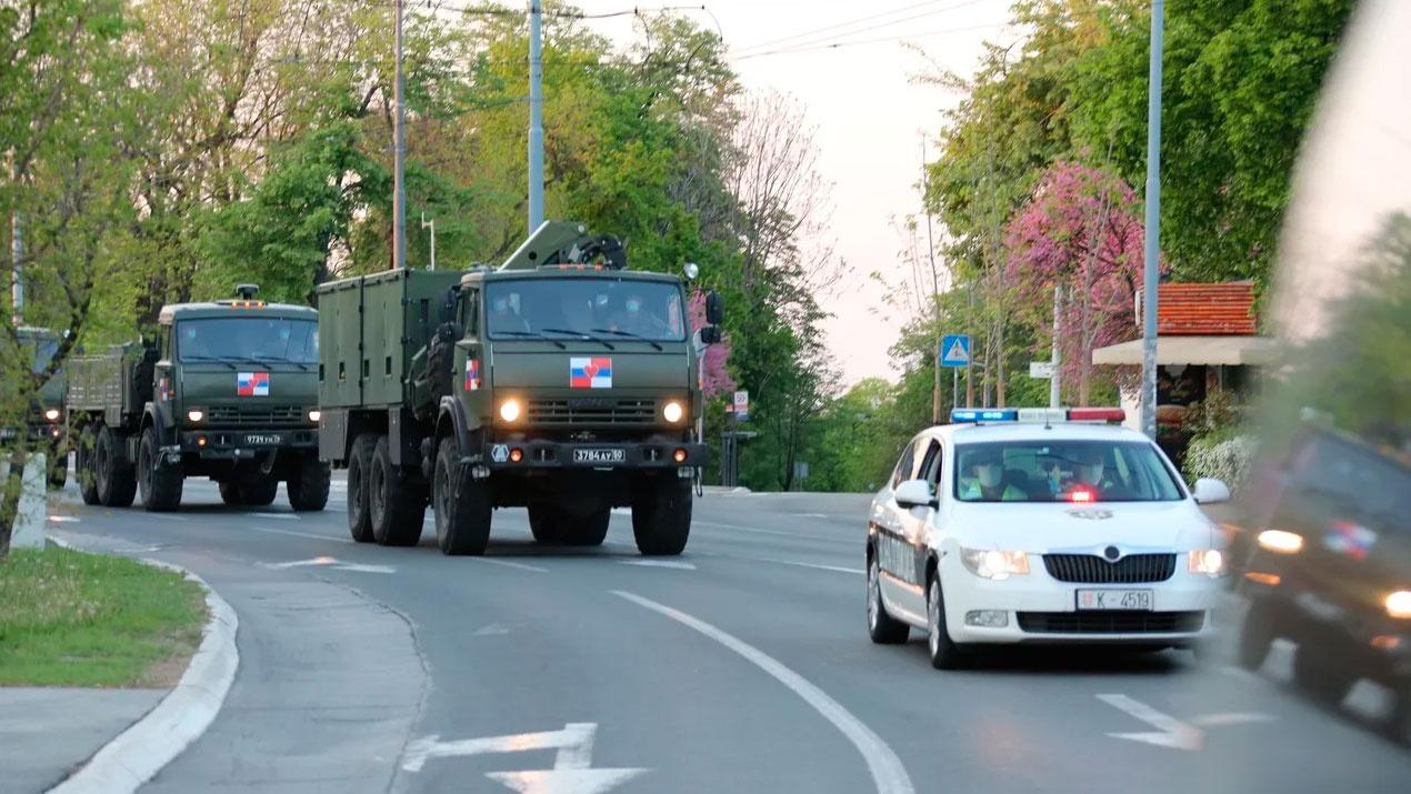 Руски одред из Републике Српске стигао у Србију
