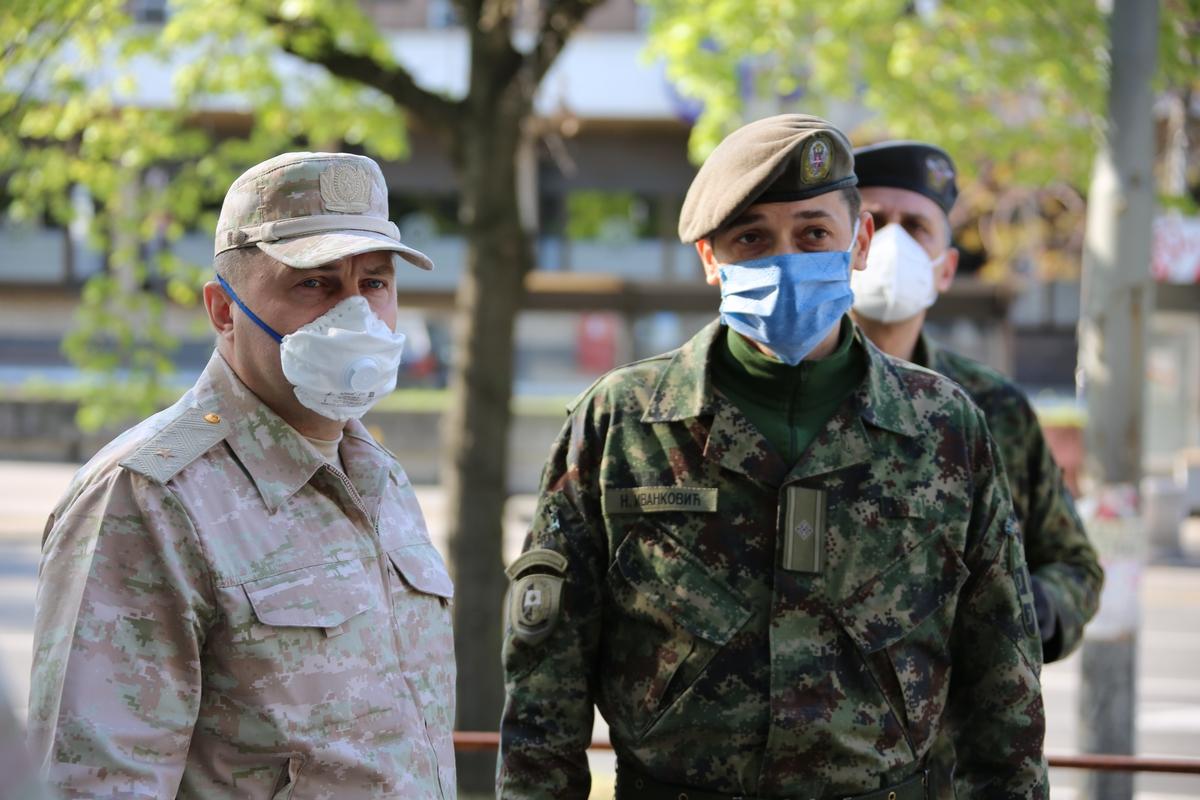 Руски војни стручњаци у Србији дезинфиковали више од 1,5 милион квадратних метара објеката