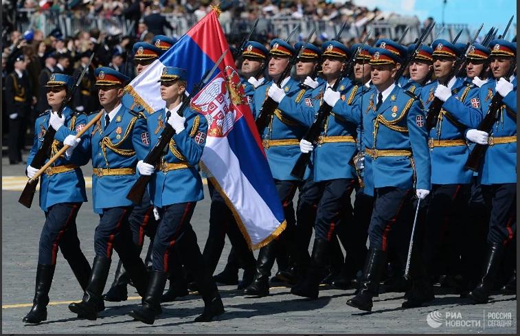 Химна косовских јунака на Црвеном тргу: Војска Србије током пробе за Параду победе