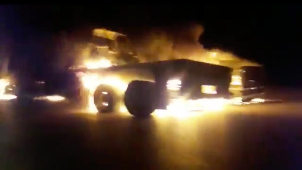 """RT: Napadnut i zapaljen """"američki vojni konvoj"""" u Iraku"""