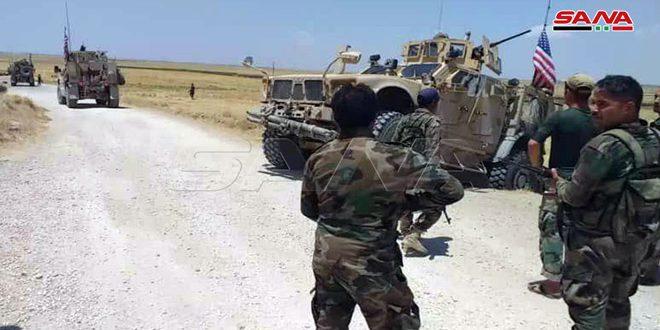 Vozila američkih okupacionih snaga zaustavljena na sirijskim punktovima i primorana da se vrate nazad