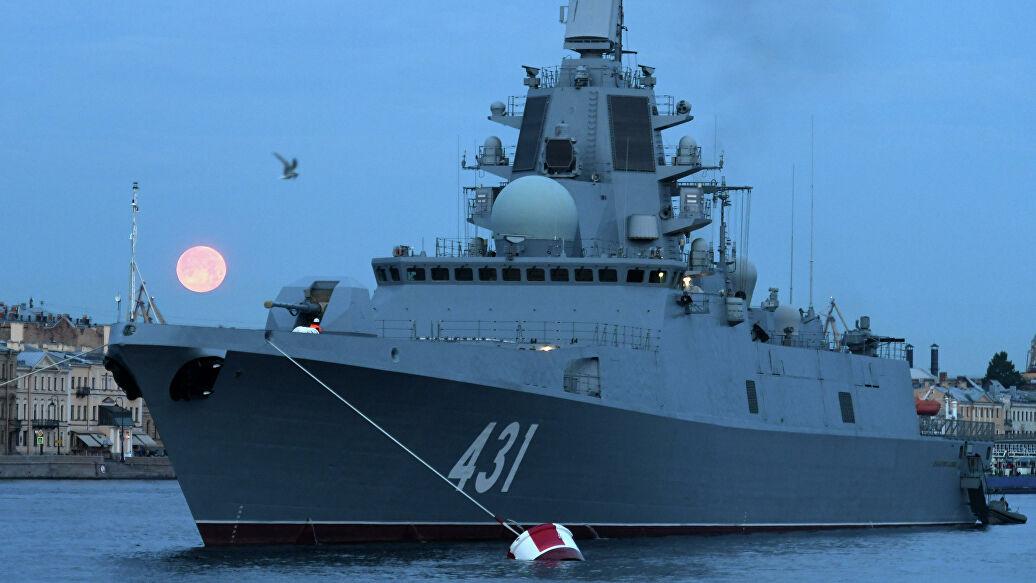 """Прва серијска фрегата пројекта 22350 """"Адмирал Касатонов"""" ушла у састав Ратне морнарице"""