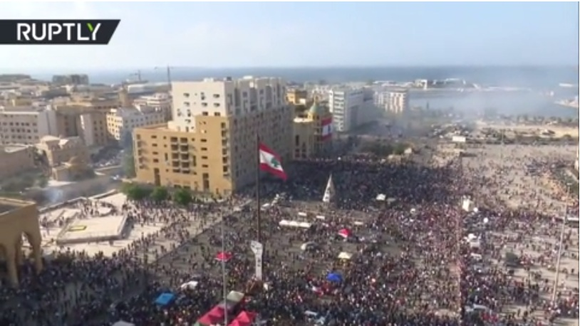 РТ: Сукоби полиције и демонстраната у Бејруту испред зграде парламента