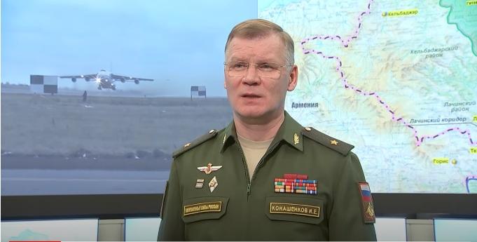 Конашенков: Режим прекида ватре поштује се на целој контакт линији у Карабаху