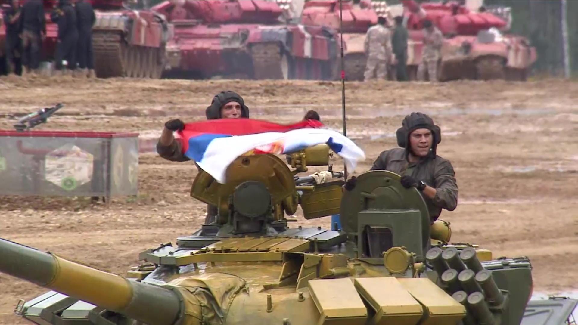 Наступ тима Војске Србије на тенковском биатлону