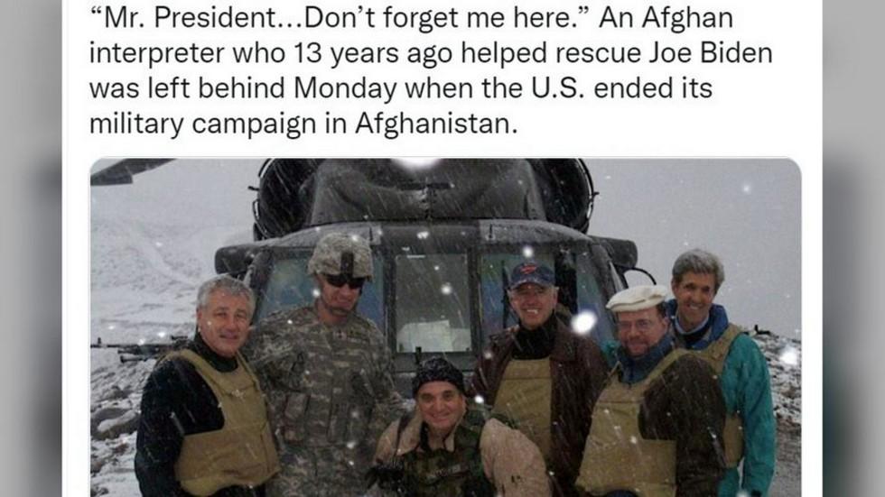 """РТ: Преводилац који је """"помогао у спасавању Бајдена"""" 2008. године моли за спас након што је остављен у Авганистану"""