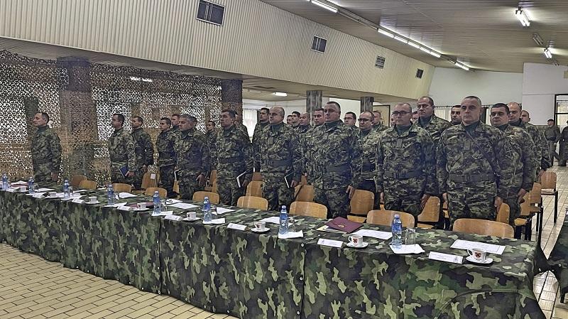 Obilazak dela zadejstvovanih snaga Vojske Srbije