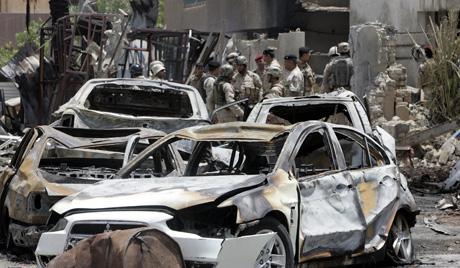 Експлозије на пијацама Багдада