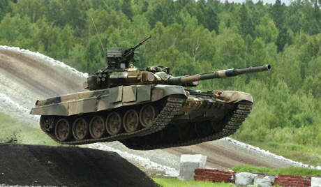 Руски тенк Т-90С у Перуу