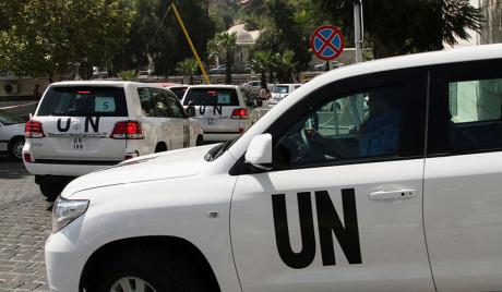 Инспектори УН за хемијско оружје у Сирији на мети снајпера