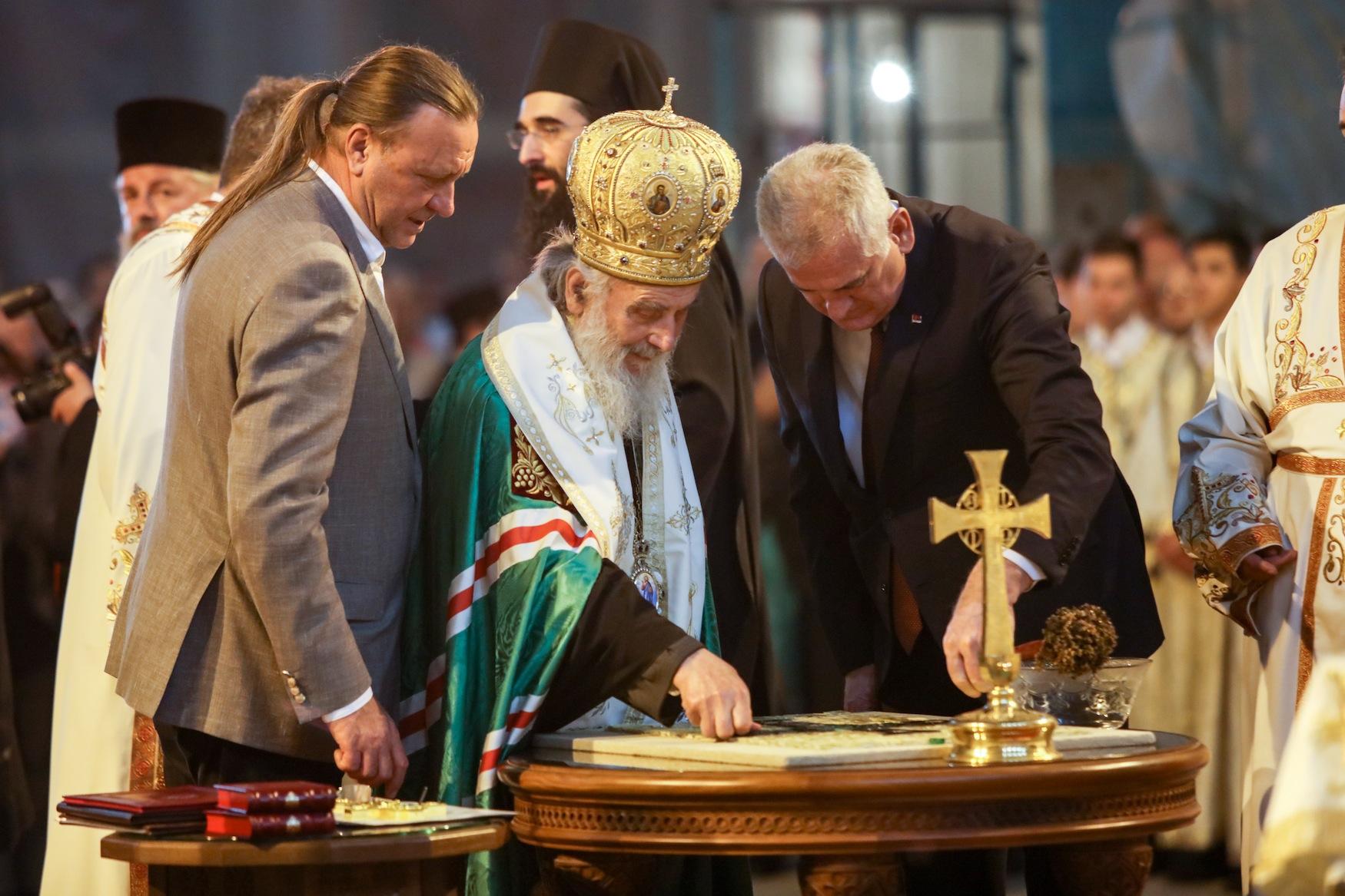 Патријарх Иринеј одликовао Александра Дјукова и Кирила Кравченка орденом Светог Саве
