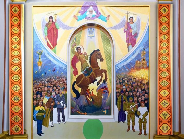 """Нова религија у Украјини - """"светац"""" убија """"Русију"""""""