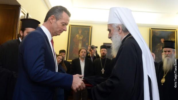 Патријарх одликовао два велика приојатеља Срба - Гујона и Рицудиса
