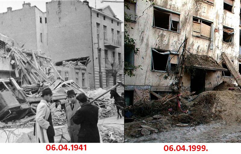 Годишњица фашистичког бомбардовања Београда и Србије 1941. и 1999.