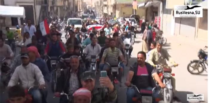 Реакција Сиријаца на улазак руске војне полиције у Каламуну