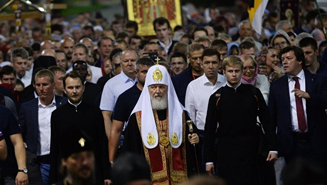 Патријарх Кирил предводио литију поводом сто година од смрти породице Романов