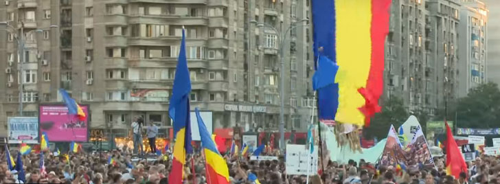 Настављају се велике демонстрације у Румунији