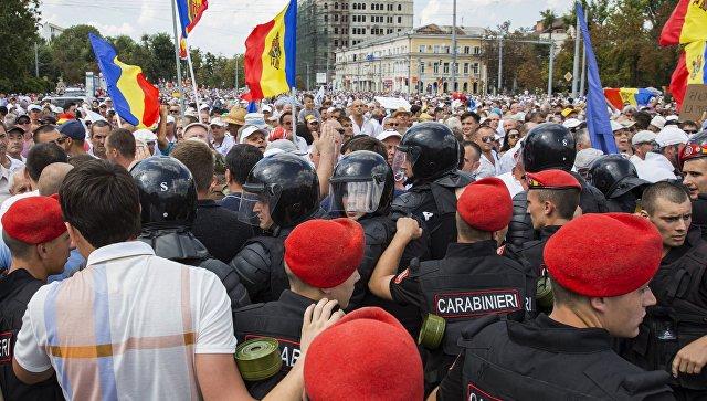 Полиција растерала демонстранте у Кишињеву