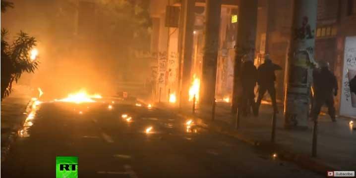 Сукоб полиције и демонстраната у Атини