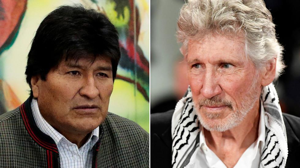 """RT: """"Evo, nadam se da je Vaš egzil kratak"""": Rodžer Voters poslao poruku podrške Moralesu"""
