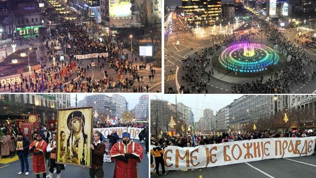 """""""Време је Божије правде"""": И Београд брани светиње у Црној Гори"""