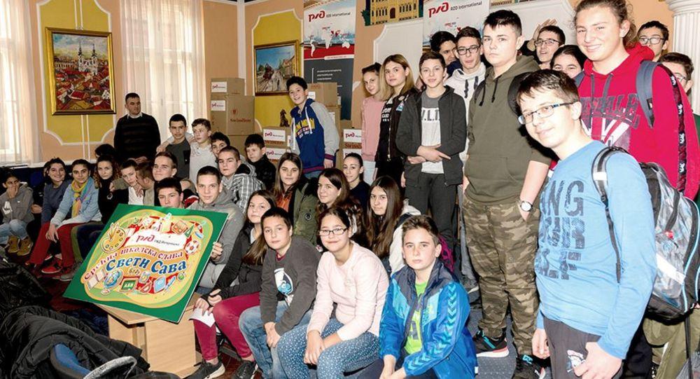 """""""RŽD Internešenel"""" obradovao dve hiljade učenika paketićima"""