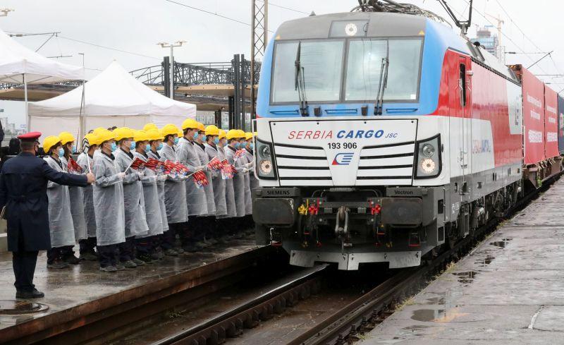 У Србију стигао воз са медицинском опремом из Кине