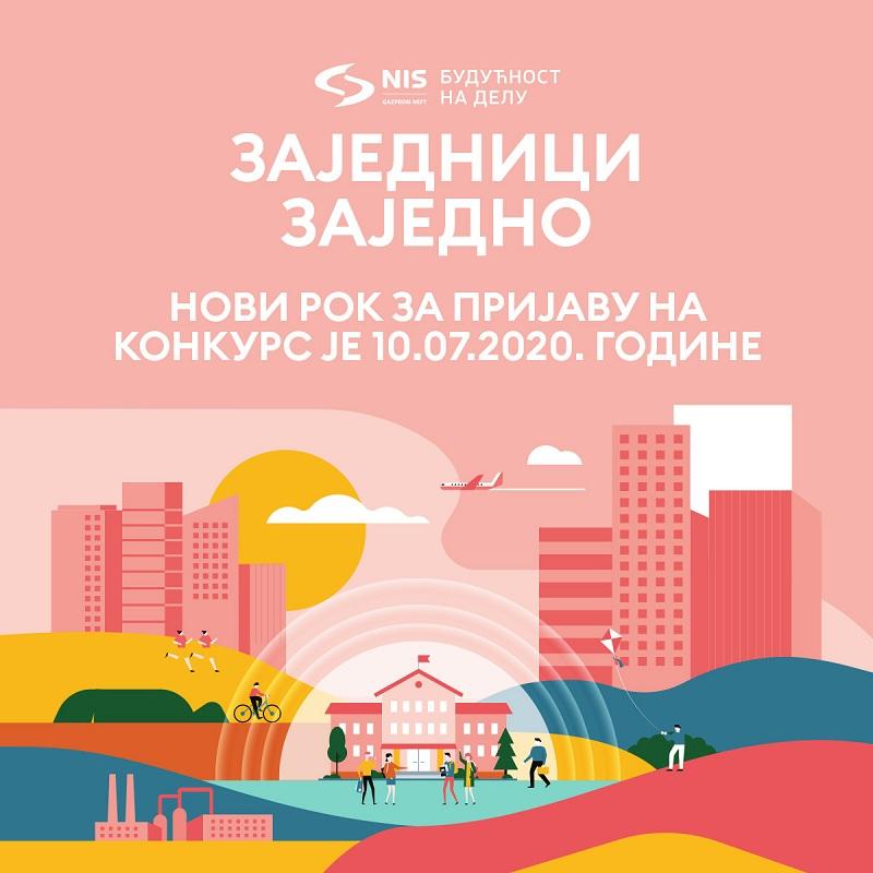 """Продужен рок за пријаву НИС-овог конкурса """"Заједници заједно"""""""