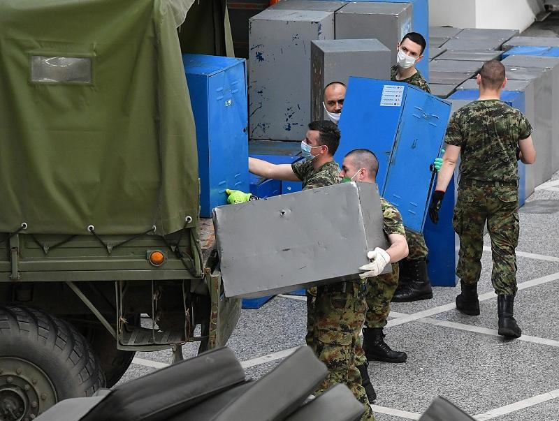 Војска Србије завршава расформирање привремене болнице на Београдском сајму