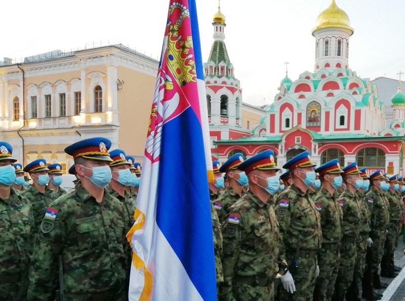 Гардисти Војске Србије у јеку припрема за Параду победе у Москви