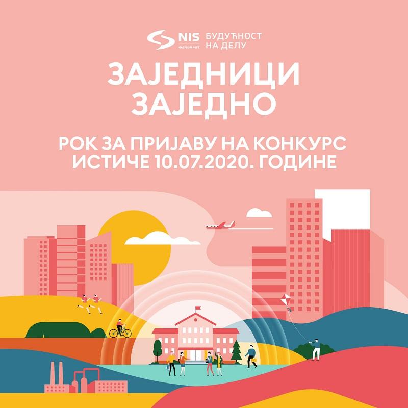 """Ускоро истиче рок за пријаву  на НИС-ов конкурс """"Заједници заједно 2020"""""""