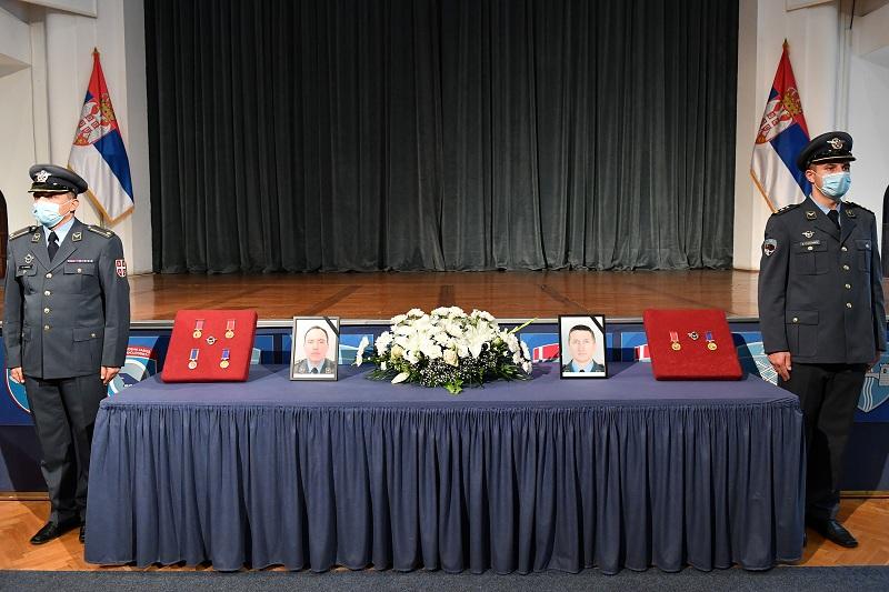 Комеморација погинулим пилотима мајору Крснику и капетану прве класе Васиљевићу