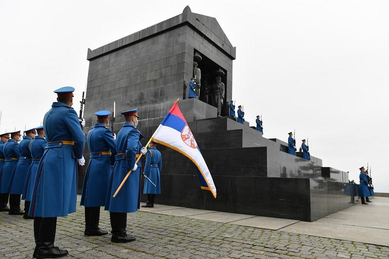 Положен венац на споменик Незнаном јунаку поводом Дана примирја у Првом светском рату