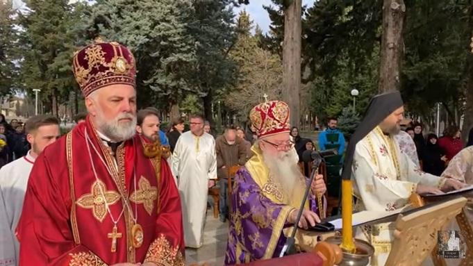 Oproštajno slovo Patrijarha srbskog g. Porfirija na sahrani novoprestavljenog episkopa Atanasija (Jevtića)