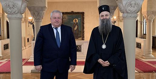 Патријарх србски примио Амбасадора Белорусије