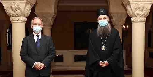 Патријарх Порфирије: СПЦ увек за разговор о миру и сарадњи у региону
