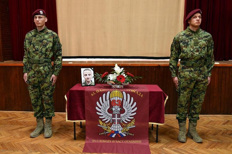 Комеморација припаднику 63. Падобранске бригаде Огњену Трајковићу
