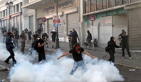 Новогодишњи штрајк у атинском метроу