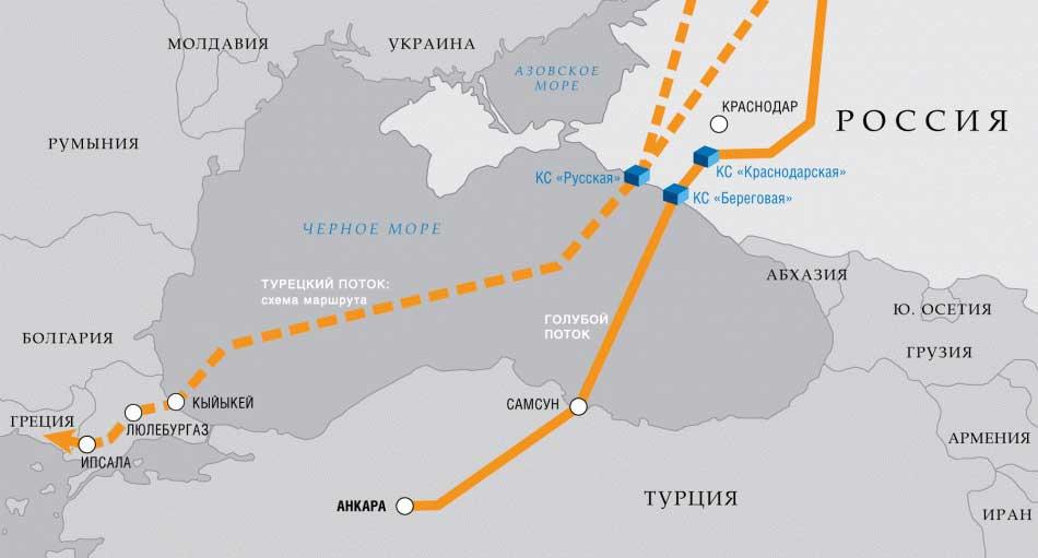 "Оснива се компанија за изградњу копненог дела гасовода ""Турски ток"""