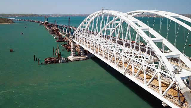 Постављен последњи стуб железничког дела Кримског моста