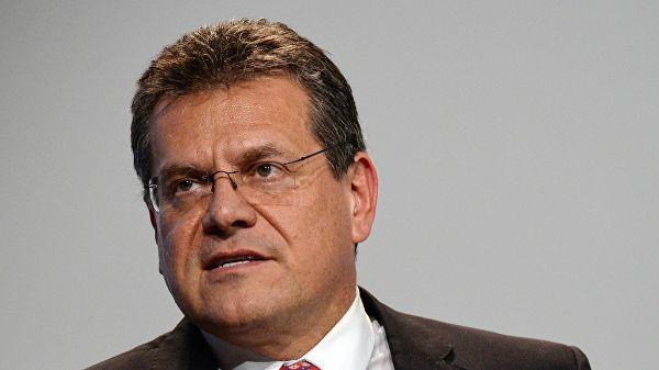 """Шефчович: Оптимална варијанта била би потписивање споразума између ЕУ и Русије о аспектима рада гасовода """"Северни ток 2"""""""