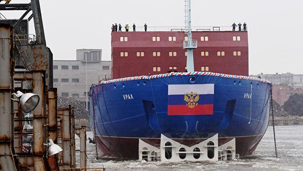 """U Sankt Peterburgu porinut nuklearni ledolomac """"Ural"""""""