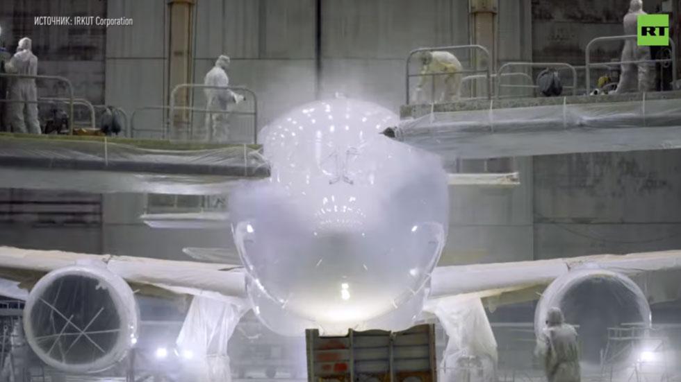 РТ: Дотеривање новог руског путничког млазњака пред авио-космички сајам МАКС 2019