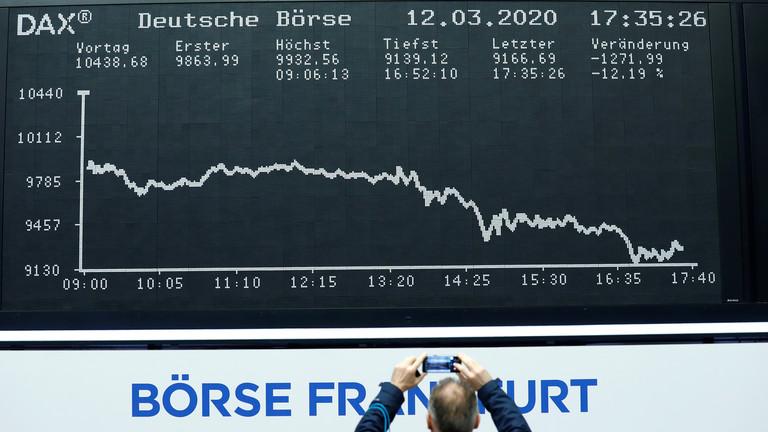 """RT: Recesija """"neizbežna"""" u Nemačkoj, upozorava šef Bundesbanke dok zemlja razmišlja o blokiranju zbog pandemije"""