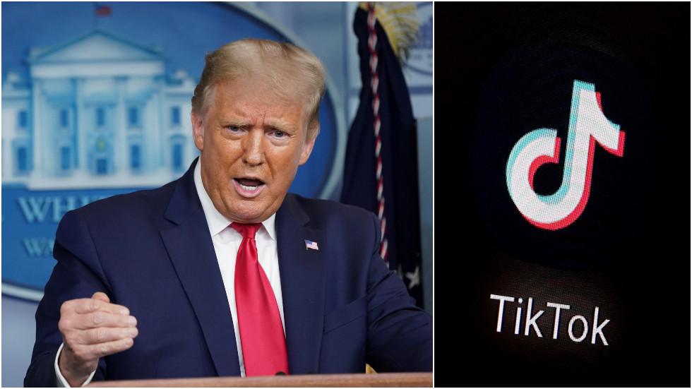 """РТ: Сат откуцава: Трамп каже да нема продужења крајњег рока уговора за """"ТикТок"""", док компанија жели да избегне распродају"""