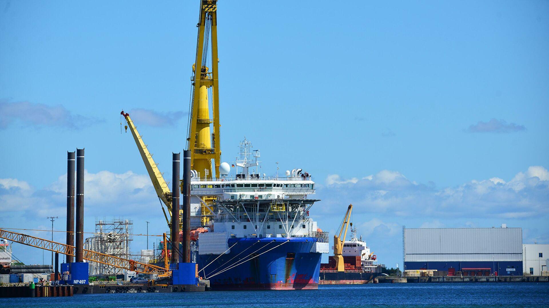 """Брод """"Фортуна"""" ће постављати цеви за преостали део гасовода """"Северни ток 2"""" у водама Немачке"""