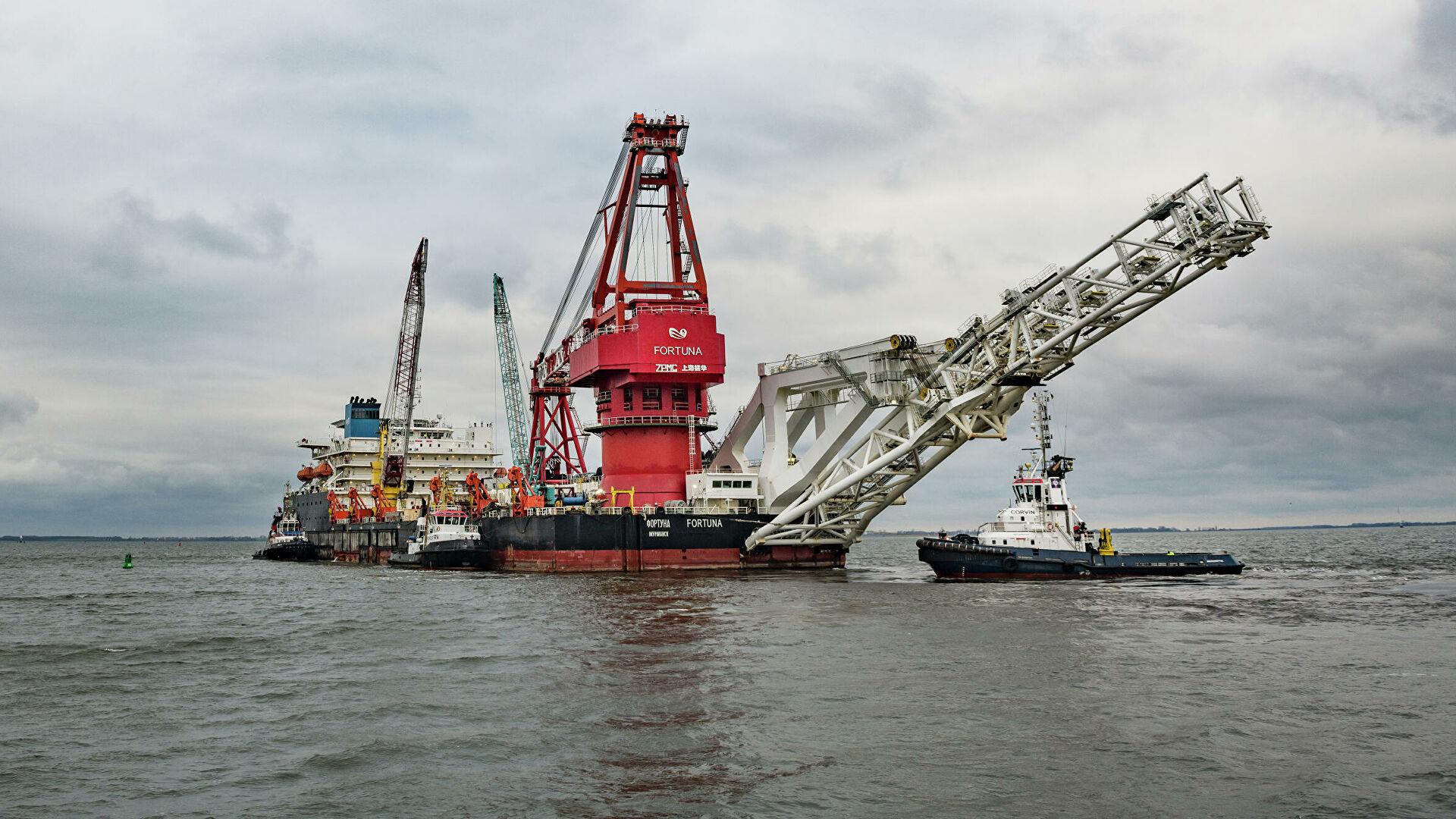 """Брод """"Фортуна"""" започео рад на наставку изградње гасовода """"Северни ток 2"""" у водама Данске"""