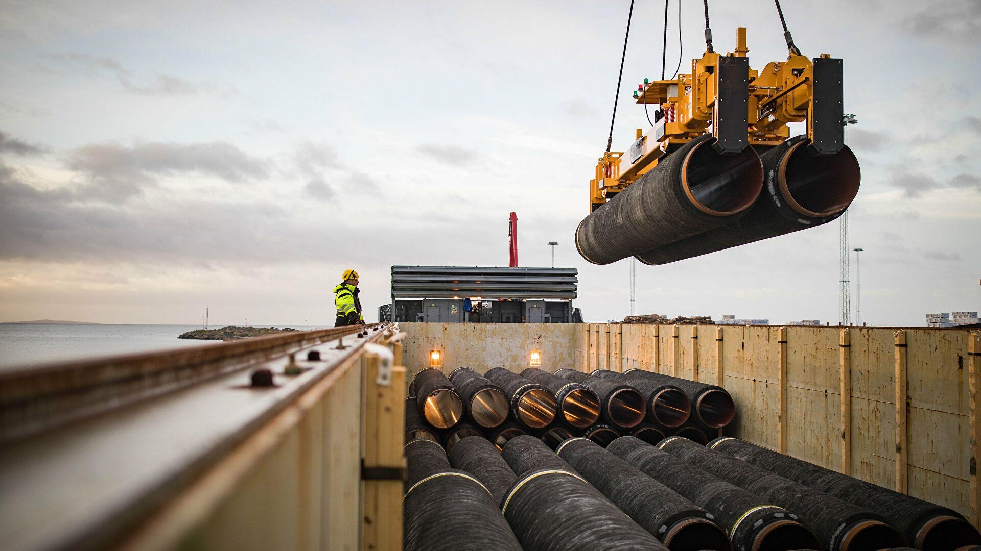 """Brod """"Fortuna"""" nastavio rad na izgradnji gasovoda """"Severni tok 2"""" u vodama Danske"""