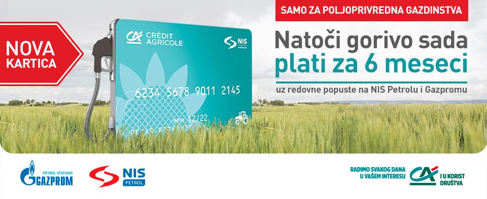 НИС и Crédit Agricole банка креирали картицу за одложено плаћање горива намењену пољопривредним газдинствима